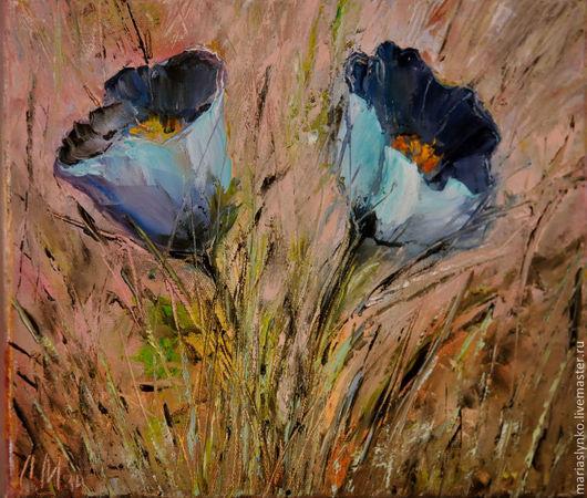 Картина с цветами сон -трава.