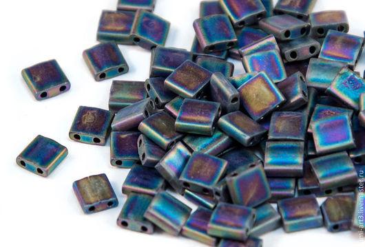 Для украшений ручной работы. Ярмарка Мастеров - ручная работа. Купить Tila 401FR Matte Black Rainbow Японский бисер Тила Миюки 5гр. Handmade.