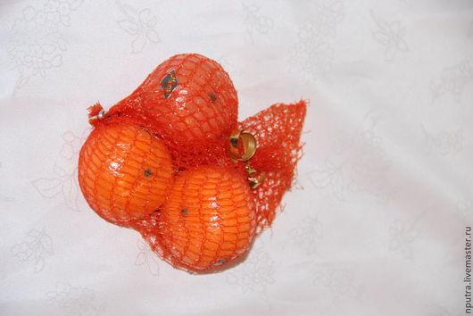 Персональные подарки ручной работы. Ярмарка Мастеров - ручная работа. Купить мандарины в сетке (цена с учетом скидки). Handmade. Оранжевый