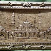 Панно ручной работы. Ярмарка Мастеров - ручная работа Резное пано из дерева Сердце Чечни. Handmade.
