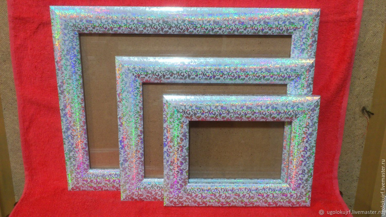 Frame set of 3pcs. 10h15, 15h21, 21h30cm, Photo frames, Maloyaroslavets,  Фото №1