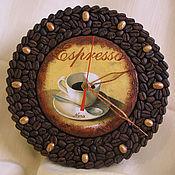 """Часы классические ручной работы. Ярмарка Мастеров - ручная работа Часы """"Аромат кофе"""". Handmade."""