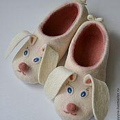 """Обувь ручной работы. Ярмарка Мастеров - ручная работа тапочки """" ушастики"""". Handmade."""