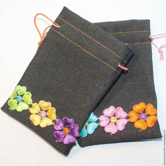 Упаковка ручной работы. Ярмарка Мастеров - ручная работа. Купить Мешочек  размер 8х11 см. для подарка из ткани с цветами. Handmade.