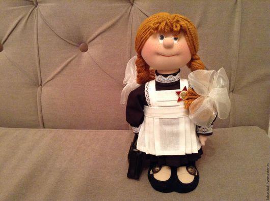Человечки ручной работы. Ярмарка Мастеров - ручная работа. Купить Кукла школьница. Handmade. Разноцветный, кукла в подарок, ученица, преподавателю