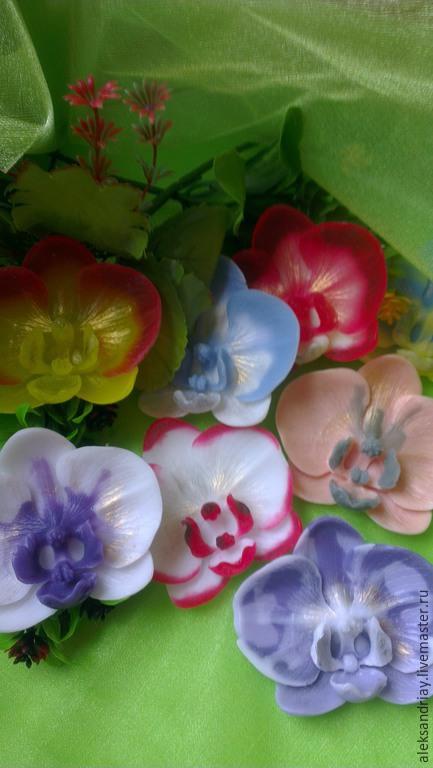 """Мыло ручной работы. Ярмарка Мастеров - ручная работа. Купить """"Орхидея"""" мыло ручной работы. Handmade. Разноцветный, орхидея"""