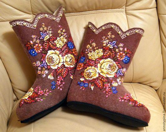 Обувь ручной работы. Ярмарка Мастеров - ручная работа. Купить под платок 12. Handmade. Коричневый, обувь ручной работы