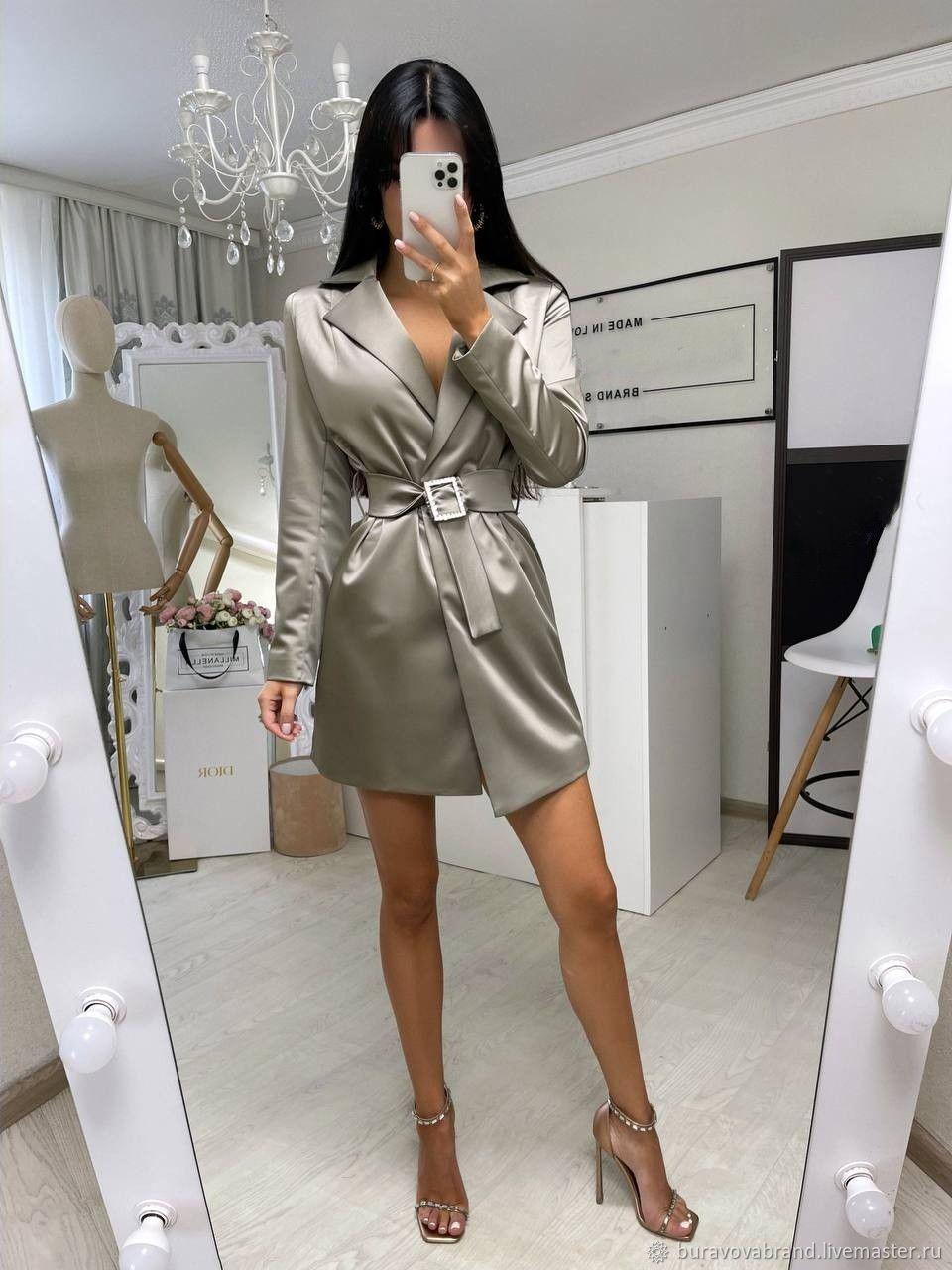 Платье-пиджак из шёлка, Платья, Вологда,  Фото №1