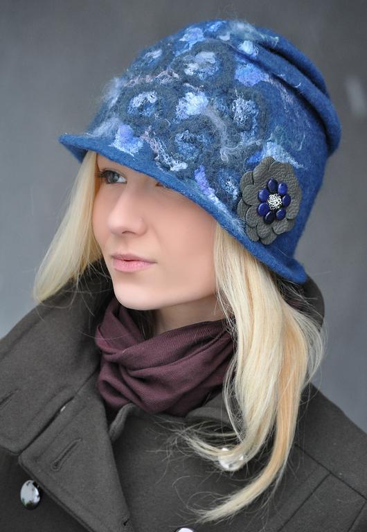 """Шляпы ручной работы. Ярмарка Мастеров - ручная работа. Купить Шляпка """"Blue River"""". Handmade. Шапка, синий, море"""