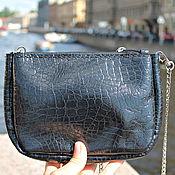 Сумки и аксессуары handmade. Livemaster - original item black handbag genuine leather handmade. Handmade.