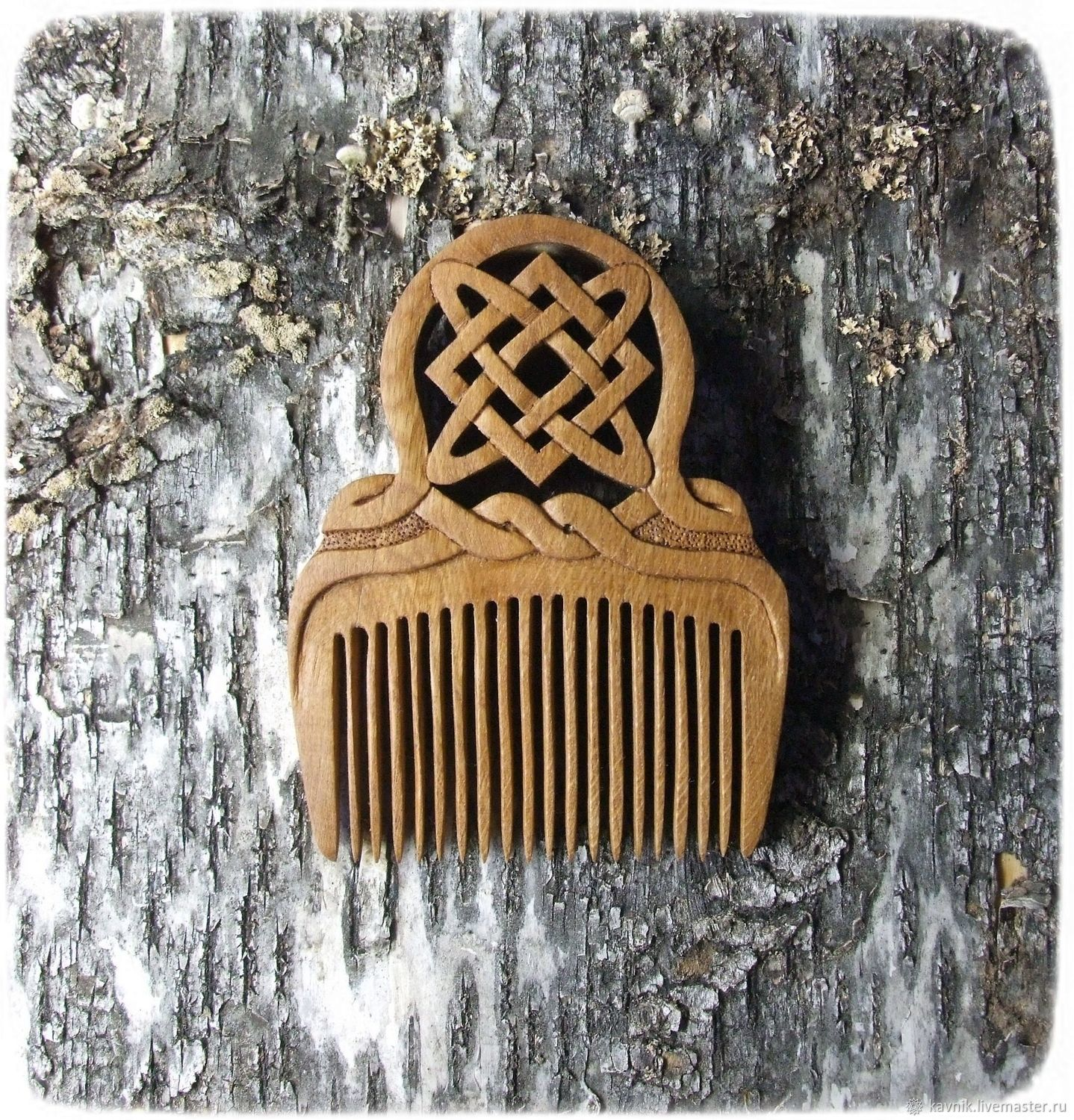 Wooden hair comb star FRETS, Combs, Moscow,  Фото №1