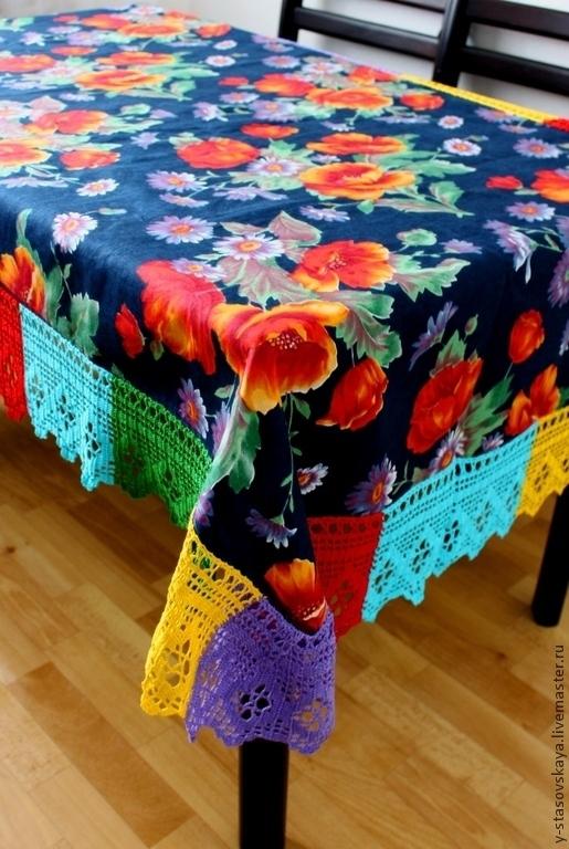 Текстиль, ковры ручной работы. Ярмарка Мастеров - ручная работа. Купить Скатерть для пикника. Handmade. Тёмно-синий, подарок женщине