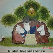 Декор ручной работы. Ярмарка Мастеров - ручная работа роспись детской комнаты муми -тролли. Handmade.