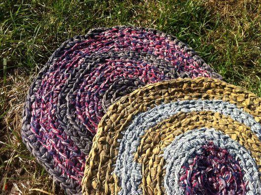 Текстиль, ковры ручной работы. Ярмарка Мастеров - ручная работа. Купить Плетеный коврик. Handmade. Комбинированный, синтетика, хлопок