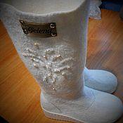 Обувь ручной работы handmade. Livemaster - original item Boots felted maiden. Handmade.