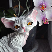 Для дома и интерьера handmade. Livemaster - original item Disa. Cat Devon Rex.. Handmade.