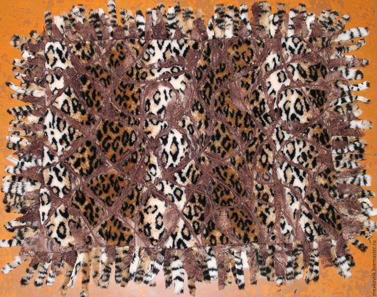 Текстиль, ковры ручной работы. Ярмарка Мастеров - ручная работа. Купить меховой прикроватный коврик. Handmade. Коврик ручной работы