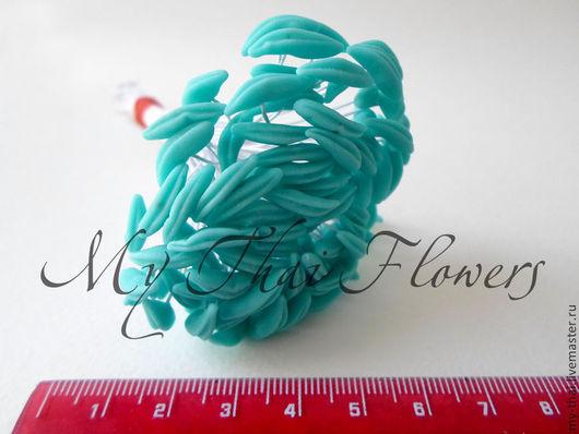 Тычинки для лилий голубые My-Thai.  Материалы для флористики из Таиланда.