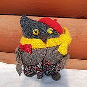 Мягкие игрушки ручной работы. Ярмарка Мастеров - ручная работа Игрушки: Сова- символ мудрости. Handmade.