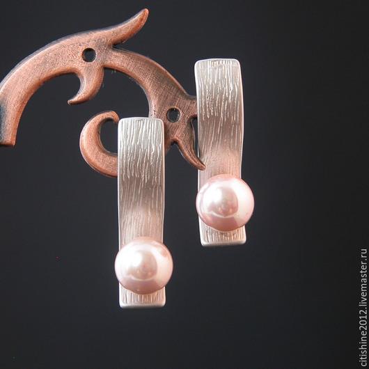 """Серьги ручной работы. Ярмарка Мастеров - ручная работа. Купить Серьги """" Виолетта"""". Handmade. Длинные серьги, серебряный"""