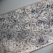 Аксессуары handmade. Livemaster - original item Tie a Study in silver tones, original painting.. Handmade.