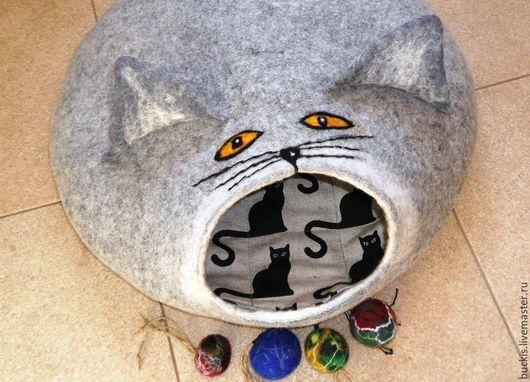Аксессуары для кошек, ручной работы. Ярмарка Мастеров - ручная работа. Купить Кошкин дом.   Валяный домик - норка для  вашего питомца.. Handmade.