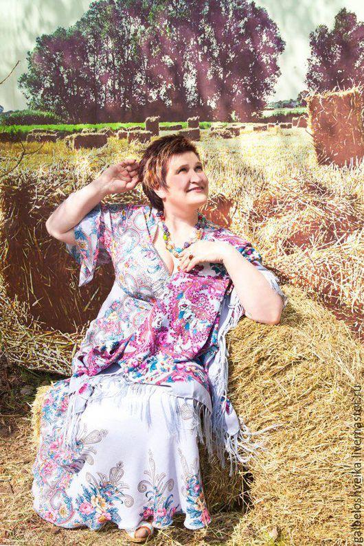 """Платья ручной работы. Ярмарка Мастеров - ручная работа. Купить Платье """"Любавушка"""". Handmade. Голубой, русские узоры, серо-голубой"""