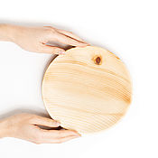 Посуда handmade. Livemaster - original item Wooden flat plate Siberian Cedar kitchen utensils #T103. Handmade.