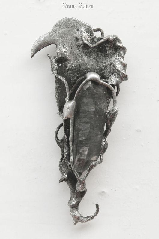 Кулоны, подвески ручной работы. Ярмарка Мастеров - ручная работа. Купить Ключ безумия - птица. Handmade. Ворон, ворона