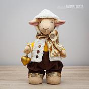 Куклы и игрушки ручной работы. Ярмарка Мастеров - ручная работа Барашек - символ 2015 года. Handmade.