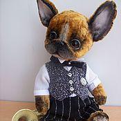 Куклы и игрушки ручной работы. Ярмарка Мастеров - ручная работа Бульдожек тедди Джорж. Handmade.