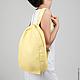 Рюкзаки ручной работы. Заказать Желтый рюкзак. Алина Нуриахмитова (nuva). Ярмарка Мастеров. Желтый рюкзак, городской рюкзак