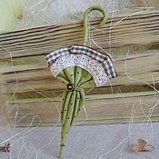 """Украшения handmade. Livemaster - original item Brooch umbrella """" Country style """". Handmade."""