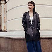 Одежда handmade. Livemaster - original item Women`s jacket made of eco-leather. Handmade.