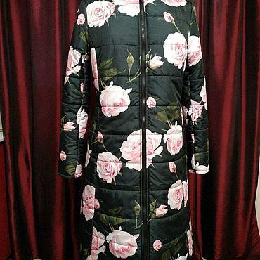 Одежда ручной работы. Ярмарка Мастеров - ручная работа Пальто с розами. Handmade.