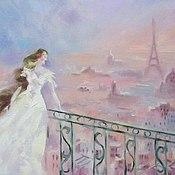 """Картины и панно ручной работы. Ярмарка Мастеров - ручная работа """" Закат над Парижем"""". Handmade."""