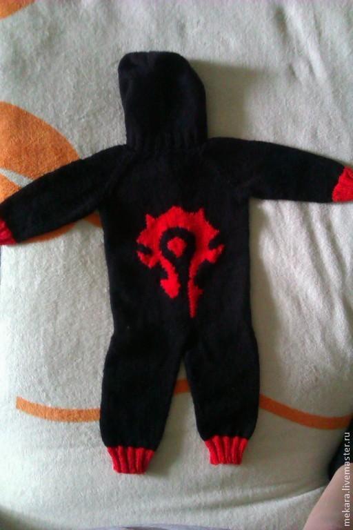 Одежда ручной работы. Ярмарка Мастеров - ручная работа. Купить Детский комбинезон World of Warcraft. Handmade. Черный, с капюшоном