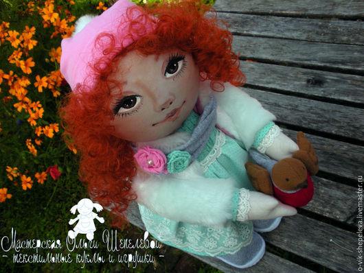 Коллекционные куклы ручной работы. Ярмарка Мастеров - ручная работа. Купить Интерьерная кукла Осенняя девочка. Handmade.