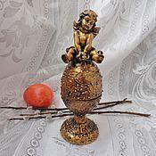 Для дома и интерьера handmade. Livemaster - original item The egg-box with an angel