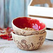Посуда ручной работы. Ярмарка Мастеров - ручная работа Мисочка керамика В осеннем лесу. Handmade.