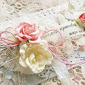 Открытки ручной работы. Ярмарка Мастеров - ручная работа Свадебный конверт для денежного подарка - в наличии. Handmade.