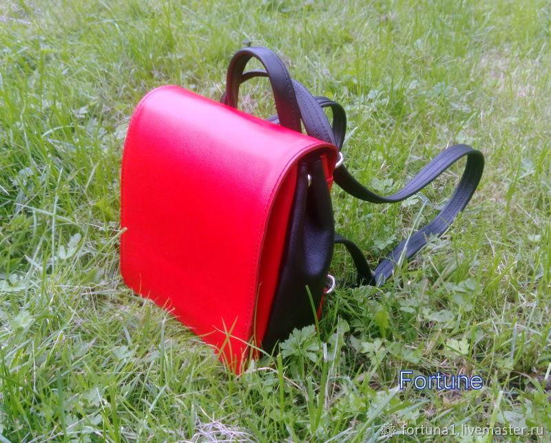 Backpack leather ' bullfinch', Backpacks, St. Petersburg,  Фото №1