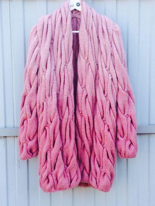 Кофты и свитера ручной работы. Ярмарка Мастеров - ручная работа. Купить Кардиган в стиле Лало ( градиент из кос). Handmade.