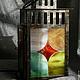 """Освещение ручной работы. Ярмарка Мастеров - ручная работа. Купить """"Арлекин"""" фонарь-ночник-подсвечник. Handmade. Разноцветный, мозаика из стекла"""