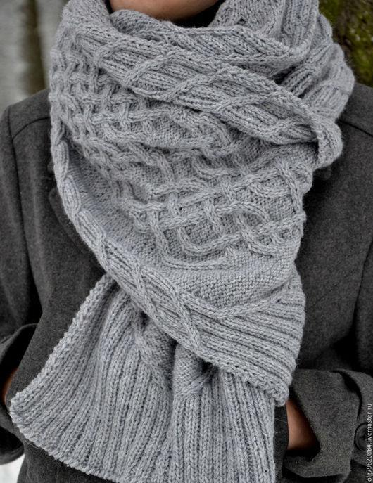 """Шарфы и шарфики ручной работы. Ярмарка Мастеров - ручная работа. Купить Длинный вязаный шарф """"Не замерзни, Дорогой!"""". Handmade."""