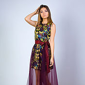 Одежда ручной работы. Ярмарка Мастеров - ручная работа Юбка из фатина, фатиновая юбка, фатин бордо. Handmade.