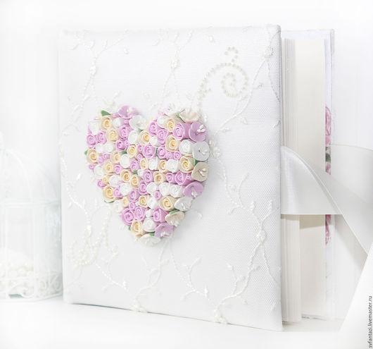 """Свадебные фотоальбомы ручной работы. Ярмарка Мастеров - ручная работа. Купить Свадебный фотоальбом """"Вместо тысячи слов....."""" 2. Handmade."""