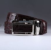 Аксессуары handmade. Livemaster - original item Crocodile leather belt IMA3051K. Handmade.