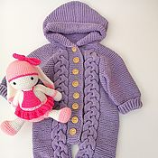 Работы для детей, handmade. Livemaster - original item Knitted Romper for newborn.. Handmade.