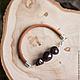 Браслеты ручной работы. Гранатовый браслет, кожаный браслет с гранатом. ROCK and SOUL. Интернет-магазин Ярмарка Мастеров. Гранат